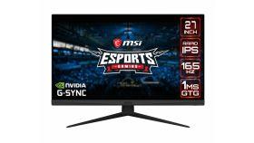 "MSI Optix G273QF, 27"", IPS, 165Hz, 1ms, 2K 2560x1440, Anti-glare, G-sync Compatible, Rapid IPS, Night Vision, Wide Color Gamut, Frameless, 300 nits, Contrast 1000:1, DCR 100M:1, DP (1.2), 2x HDMI (2.0), Earphone out, VESA 100, Tilt, 9S6-3CA81A-040"