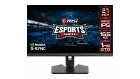 "MSI Optix MAG274QRF, 27"", 165Hz, 1ms, Rapid IPS, 2560x1440, G-Sync Compatible, Gaming OSD, Mystic Light, 94% DCI-P3, AG, USB hub, 300 cd/m2, 1000:1, DCR 100M:1, DP, 2xHDMI(2.0), 1xTypeC DP alt., Heigh Adj., VESA, 9S6-3CA88A-020"