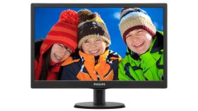"Philips 193V5LSB2, 18.5"" Wide TN LED, 5 ms, 10M:1 DCR, 200 cd/m2, 1366x768 HD, Black"