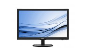 "Philips 223V5LSB2, 21.5"" Wide TN LED, 5 ms, 10M:1 DCR, 200cd/m2, 1920x1080 FullHD, Black"