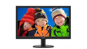 "Philips 243V5LHSB, 23.6"" Wide TN LED, 1 ms, 10M:1 DCR, 250 cd/m2, 1920x1080 FullHD, DVI, HDMI, Black"