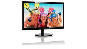 """Philips 246V5LDSB, 24"""" Wide TN LED, 1 ms, 1000:1, 10М:1 DCR, 250 cd/m2, FHD 1920x1080@60Hz, Flicker-Free, D-Sub, DVI, HDMI, Black"""