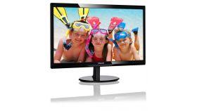 """Philips 246V5LSB, 24"""" Wide TN LED, 5ms, 10M:1 DCR, 250 cd/m2, 1920x1080 FullHD, DVI, Black"""