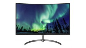 "Philips 328E8QJAB5, 31.5"" Curved Ultra Narrow Wide MVA LED, 4 ms, 20M:1 DCR, 250 cd/m2, 1920x1080 FullHD, D-Sub, HDMI, DP, Speakers, Black"
