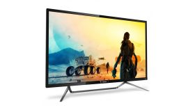 "Philips 436M6VBPAB, 43"" Wide MVA LED, 4 ms, 4000:1, 50М:1 DCR, 720/1000 cd/m2, 3840x2160@60Hz, Adaptive Sync, 1xUSB-C/2xUSB 3.0, HDMI, DP, Headphone Out, Speakers, Black"
