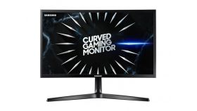 "Samsung C24RG50FQUX, 24"" Curved VA LED, Professional GAMING, 1,800R, 144hz, 4 ms, Eye Saver Mode, Flicker Free, Quantum Dot, Freesync, 1920x1080, 2xHDMI, DP, 250cd/m2, 3000:1 Contrast, Mega DCR, 178°/178°, Black"