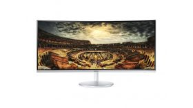 "Samsung C34F791WQUX 34"", CURVED VA, 1500R, 4ms, 3440x1440, Speakers, DP, DVI, 2xHDMI, USB HUB, 300cd/m2, Mega DCR, 178°/178°, HAS, Tilt, White"