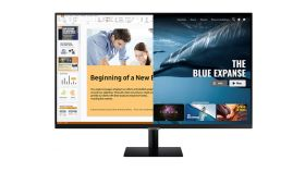 "Samsung 32AM700, 31.5"" VA SMART Monitor, 60Hz, 8 ms GTG, 3840 x 2160, 250 cd/m2, 3000:1 Contrast, HDR10, DeX, Mirroring, AirPlay 2, Remote Access, Eye Saver Mode, Flicker Free, Game Mode, Bluetooth 4.2, WiFi 5, 2xHDMI 2.0, Speakers, 178°/178°, Black"