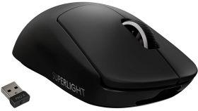 Logitech G Pro X Superlight Wireless Mouse, Lightspeed Wireless 1ms, HERO 25K DPI Sensor, 400 IPS, Onboard Memory, >63g, Black