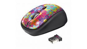 TRUST Yvi Wireless Mouse - flower power