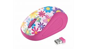 TRUST Primo Wireless Mouse - pink flowers