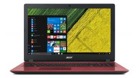 """Acer Aspire 3, Intel Celeron N4100 Quad-Core (up to 2.40GHz, 4MB), 15.6"""" HD (1366x768) Glare, HD Cam, 4GB DDR3L, 128GB SSD, Intel UHD Graphics 600, 802.11ac, BT 4.1, Linux, Red"""