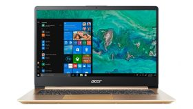 "Acer Aspire Swift 1 Ultrabook, SF114-32-P64W, Intel Pentium N5000 Quad (up to 2.70GHz, 4MB), 14"" IPS FullHD (1920x1080) AG, HD Cam, 4GB DDR4, 128GB SSD, Intel HD Graphics 605, 802.11ac Intel, BT 4.0, Backlit KBD, MS Windows 10, Luxury Gold"