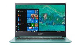 """Acer Aspire Swift 1 Ultrabook, SF114-32-P8B9, Intel Pentium N5000 Quad (up to 2.70GHz, 4MB), 14"""" IPS FullHD (1920x1080) AG, HD Cam, 4GB DDR4, 128GB SSD, Intel HD Graphics 605, 802.11ac Intel, BT 4.0, Backlit KBD, MS Windows 10, Aqua Green"""