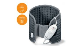 Beurer HK 49 Cosy Abdominal & Back Heat Pad; 3 temperature settings; auto switch-off after 90 min; washable on 30°; removable switch; fleece fibre;69(L)x28(W) cm