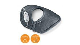 Beurer HK 54 Cosy Shoulder & Neck Heat Pad; 3 temperature settings; auto switch-off after 90 min; washable on 30°; removable switch; fleece fibre;56(L)x52(W) cm