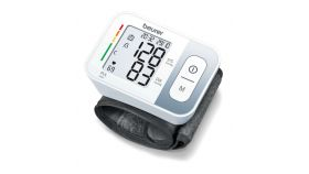 Beurer BC 28 Wrist blood pressure monitor; risk indicator; arrhythmia detection; medical device; circumferences 13.5-19.5 cm; storage bag, 5 year warranty