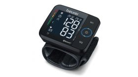 Beurer BC 54 BT wrist blood pressure monitor Bluetooth, Black display, Wireless transfer, 2x60 memory spaces, Risk indicator,Arrhythmia detection,Medical device,Wrist circumferences from 13.5 to 21.5 cm,Date and time/automatic switch-off, HealthManag