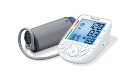 Beurer BM 49 speaking upper arm blood monitor; Bluetooth; voice output; XL display; two user memories;risk indicator; Arrhythmia detection; medical device; circumferences 22- 36 cm; storage bag