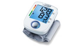 Beurer BC 44 wrist blood pressure monitor, blue illuminated display,Risk indicator,Arrhythmia detection,circumferences from 14 to 19.5 cm