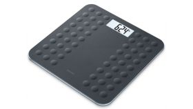 Beurer GS 300 Black Glass bathroom scale;non-slip surface; Automatic switch-off, overload indicator;  height 1.8 cm ; 180 kg / 100 g