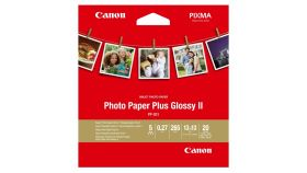 """Canon Plus Glossy II PP-201, 5x5"""", 20 sheets"""
