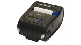 """Citizen Label Mobile printer CMP-20II Direct thermal Print Speed 80mm/s, Print Width(max.) 48mm/ Media Width 58mm/Roll Size 48mm, Resol.203dpi/Print Sizes 2""""/Interf.RS-232 /mini DIN/USB mini B/Wireless LAN/Battery Li-Ion/7.4 volt/1800mAh(24h) IP42/Bl"""