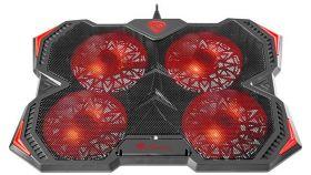 Genesis Laptop Cooling Pad Oxid 250 15.6-17.3 4 Fans, Led Light, 2 Usb