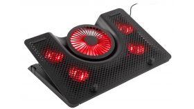 Genesis Laptop Cooling Pad Oxid 550 15.6-17.3 5 Fans, Led Light, 1 Usb