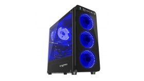 Genesis Case Irid 300 Blue Midi Tower Usb 3.0