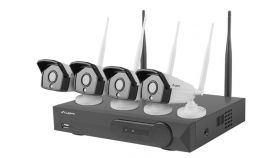 Lanberg surveillance kit NVR WIFI 4 channels + 4 cameras 1.3MP with accessories