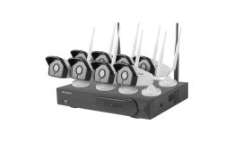 Lanberg surveillance kit NVR WIFI 8 channels + 8 cameras 1.3MP with accessories