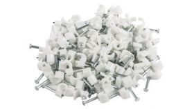 Lanberg cable clips 3,5mm 100pcs, white