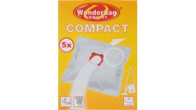 Rowenta WB305140, Wonderbag Compact, Vacuum Bags, Set of 5 bags + 1 adapter ring, 3-layered, Universal, textile