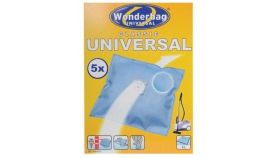 Rowenta WB406140, WonderBag Classic, Vacuum Bags, Set of 5 bags + 1 adapter ring  (universal), 3-layered, Universal, Textile,