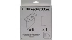 Rowenta ZR003901, Box of 6 Paper Bags + 1 Filter for Compacteo