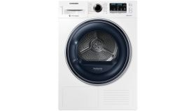 Samsung DV90M52103W/LE Dryer With thermopomp, 9kg, LED, A+++, Diamond drum,  White