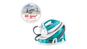 Tefal GV6721E0, Effectis turquoise, fast heat up 2min - manual regulation - 5 bars - 120g/min - durilium soleplate - eco setting - triple clic -  water tank 1.5L