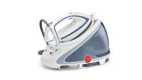 Tefal GV9563E0, Pro Express Ultimate light blue, fast heat up 2min - 5 settings on base - 7,5bars - 140g/min - steam boost 500g/min - Airglide Autoclean soleplate - anti stains - removable water tank 1,9L - calc collector - lock system