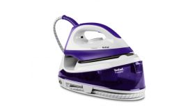 Tefal SV6020E0, Fasteo purple, non bioler - manual - 5 bars - 100g/min - steam boost 130g/min - anticalc cartridge - ceramic soleplate - water tank 1,2L -  eco