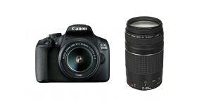 Canon EOS 2000D, black + EF-s 18-55mm f/3.5-5.6 IS II + EF 75-300 mm f/4.0-5.6 III