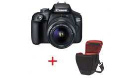 Canon EOS 4000D, black + EF-s 18-55 mm DC III + Canon BAG Holster HL100, Black