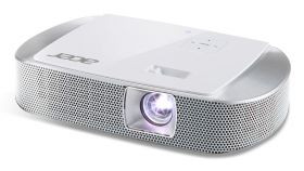 Acer Projector K137i LED, WXGA (1280x800), 700Lm, 10000:1, HDMI/MHL, USB, SD, Audio 2x3W, 30`000hrs lamp life (ECO), Wireless Dongle, 0.51 kg + Acer M90-W01MG Projection Screen 90'' (16:9) Wall & Ceiling Gray Manual + Logitech Wireless Presenter R400