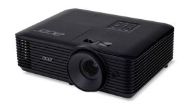 Acer Projector X128H, DLP, XGA (1024x768), 3600 ANSI Lumens, 20000:1, 3D, HDMI, VGA, RCA, Audio in, DC Out (5V/2A, USB-A), Speaker 3W, Bluelight Shield, Sealed Optical Engine, LumiSense, 2.7kg, Black