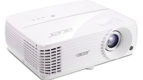 Acer Projector V6810, DLP, 4K UHD (3840x2160),2200Lm,10000:1, HDR, HDMI 2.0, HDMI, VGA, Audio in, Audio out, Speaker 10W, Rec 2020, Rec 709, Acer ColorPurity, Sealed Optical Engine, Bag, 4kg, White