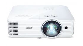 Acer Projector S1286H, DLP, Short Throw, XGA (1024x768), 3500 ANSI Lumens, 20000:1, 3D, HDMI, VGA, RCA, Audio in, Audio out, VGA out, DC Out (5V/1A, USB-A), Speaker 16W, Bluelight Shield, 3.1kg, White
