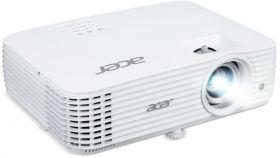 "Acer Projector P1555, DLP, WUXGA (1920x1080), 4000 ANSI lumens, 10000:1, 3D, HDMI, HDMI/MHL, RGB, Audio in, RCA, 2xVGA in, VGA out, DC Out (5V/1.5A, USB Type A), Speaker 10W, RS232, 2.9kg,White + Acer T82-W01MW 82.5"" (16:10) Tripod Screen White"