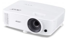 Acer Projector P1155, DLP, SVGA(800x600), 4000 ANSI Lumens, 20000:1, 1.1x, 3D ready, VGA x2, HDMI, HDMI/MHL, RCA, Audio in/out, VGA out, USB type A (5V/1A), Speaker 1x3W, RS232, USB mini-B, Lamp life up to 15000h, Auto Keystone, Bag, 2.4kg, White