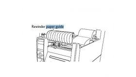 Citizen CL-S700 series Internal Rewinding Paper Guide