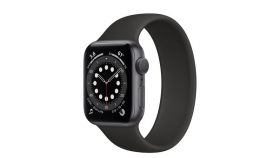 Apple Watch S6 GPS, 40mm Space Gray Aluminium Case with Black Sport Band - Regular